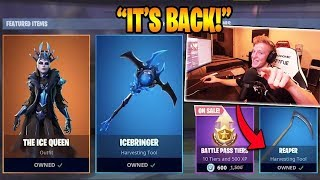 """Tfue BUYS *NEW* """"ICE QUEEN"""" & *RARE* """"REAPER"""" SCYTHE PICKAXE! (Fortnite Br Moments)"""