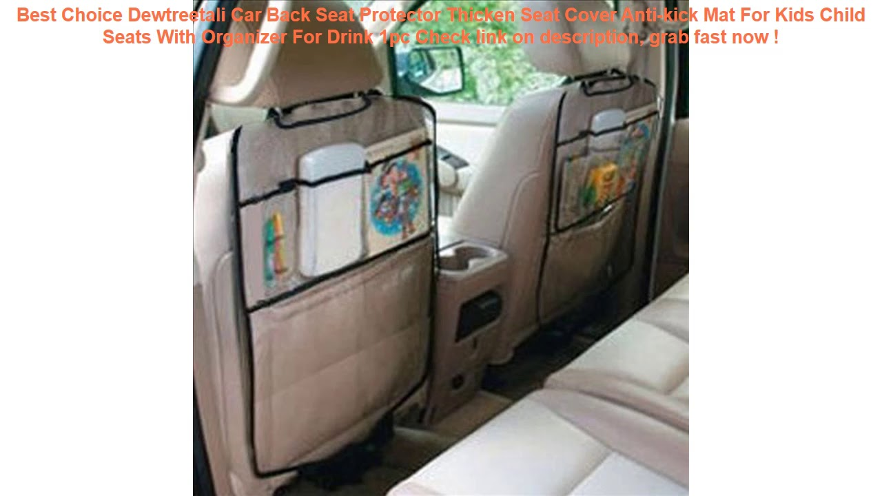 Car Back Seat Protector Cover Anti-kick Mat For Kids Child Seats Thicken Seat