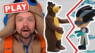 KyKyPlay Сказка про злодея на детскои площадке Маша и Медведь и Супермены