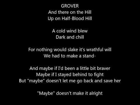 the lightning thief musical- the tree on the hill- lyrics