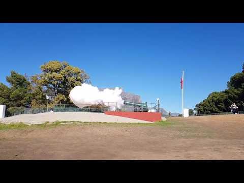 Cape Town Noon Day Signal Gun Firing - 29th May 2017