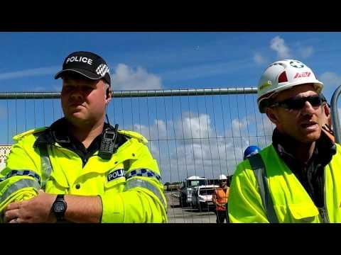 A583 Anti fracking protest Little Plumpton Lancashire 28/07/2017