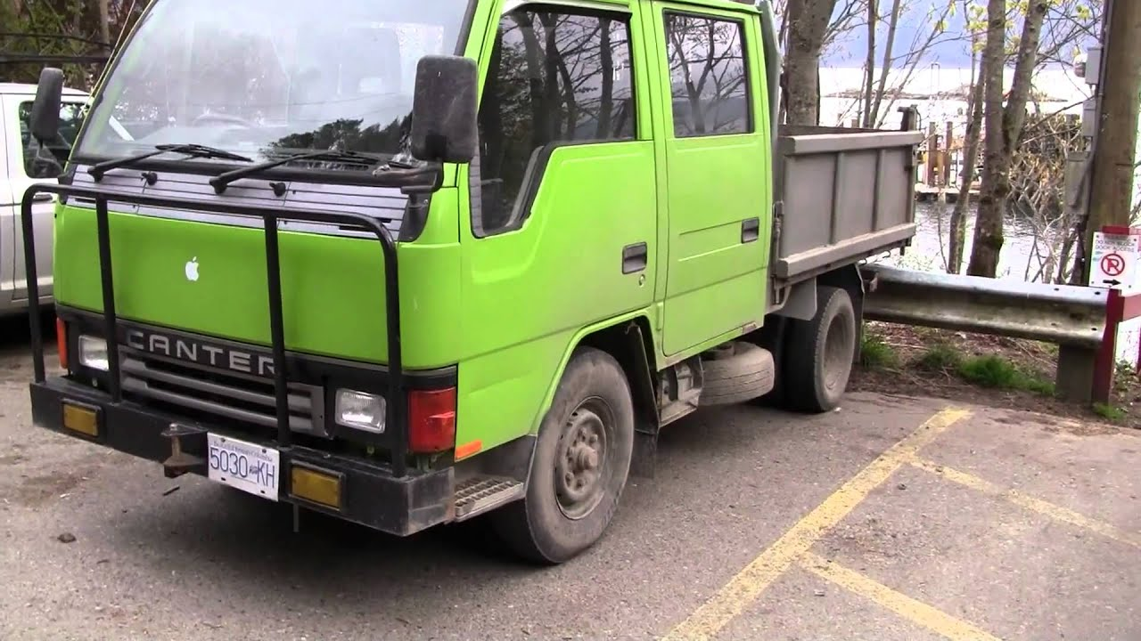 Canter truck sale double cabin 4wd japan import jpn car - Mitsubishi Canter Dump Truck Crew Cab On Salt Spring Island Bc Youtube