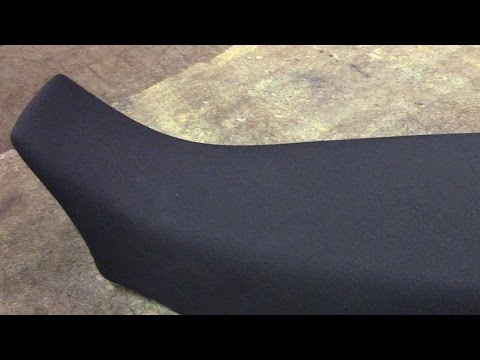 Recovering A Motorcycle Seat YouTube - Vinyl for motorcycle seat