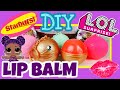 L.O.L SURPRISE LIP BALM WITH STARBURST! How To Make Lip Balm: EASY DIY: Custom LOL DOLLS | TUTORIAL