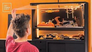Hand Plane Wall Cabinet