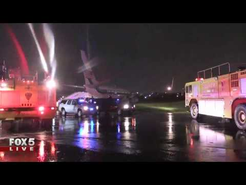 Plane carrying Gov. Mike Pence slids off runway