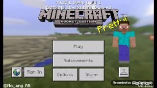 Minecraft pe cara membuat tv yg menyala (easy)