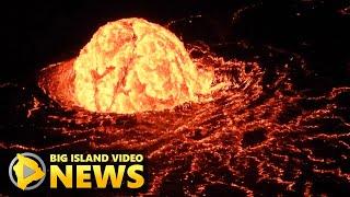 Kilauea Eruption Update: Lava Lake Dome Fountain Emerges (Jan. 5, 2021)