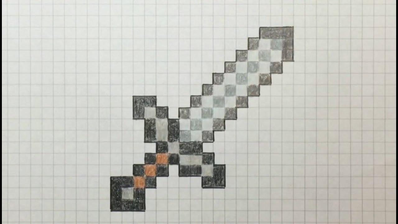 8-bit dibujando una espada de metal
