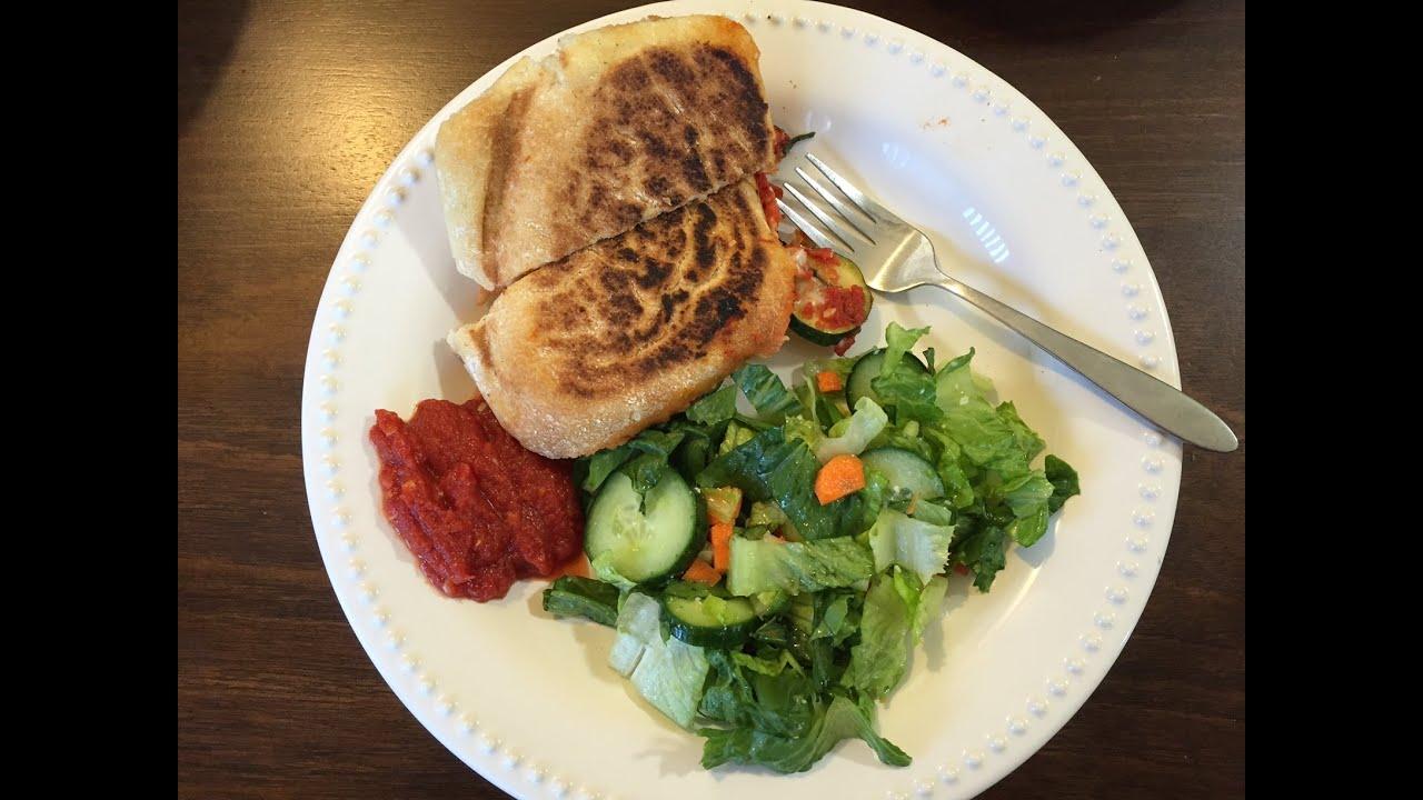 Blue apron zucchini salad - Blue Apron Zucchini Mozzarella Pizza Paninis Meal Prep And Review