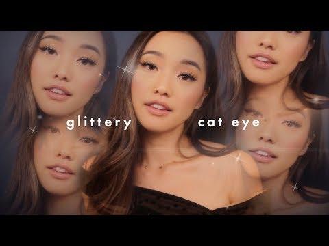 Glittery Cat Eye Makeup thumbnail