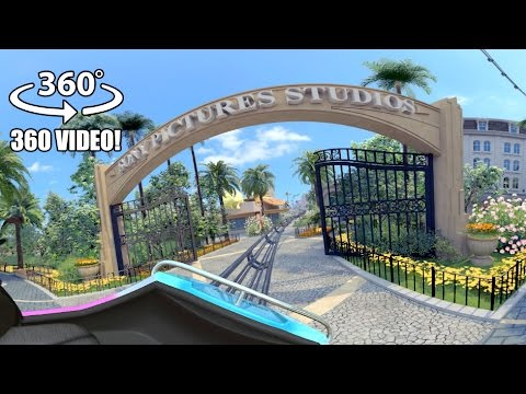 AWESOME Motiongate Dubai Theme Park 360 Degree Roller Coaster Tour!
