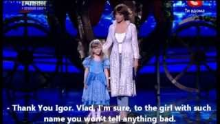 Art whistling girl. UGT 2011-2012 Semifinal (video with English subtitles)(Vlada Marinkevich, 6 y.o. on the
