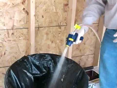 Spray foam insulation kit foamseal 600 diy youtube solutioingenieria Image collections