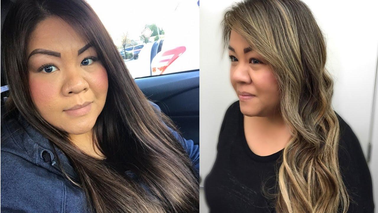 Foilage Brown To Ashy Blonde Hair Transformation Balayage