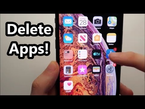 How to delete apps iphone xs max