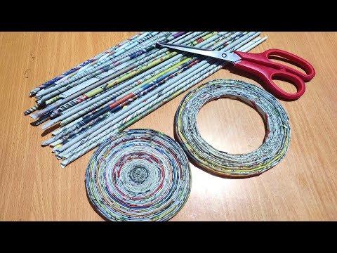 Newspaper Craft Idea   Newspaper Reuse Idea   Best out of waste idea