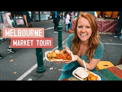 Melbourne's BEST MARKET TOUR! Street Food, Donuts, Coffee & More! (Queen Victoria Market)