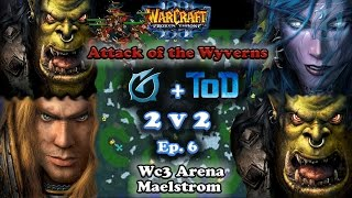 Grubby   Warcraft 3 The Frozen Throne   2v2 with ToD - Orc & HU vs. Orc & NE - Attack of the Wyverns