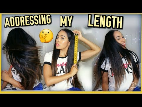 Natural Hair LENGTH CHECK on Straightened Hair - See my hair growth