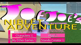 Let's Play Joe's Joe's Niblet Adventure [ROBLOX] Diavolo gameplay and another characters
