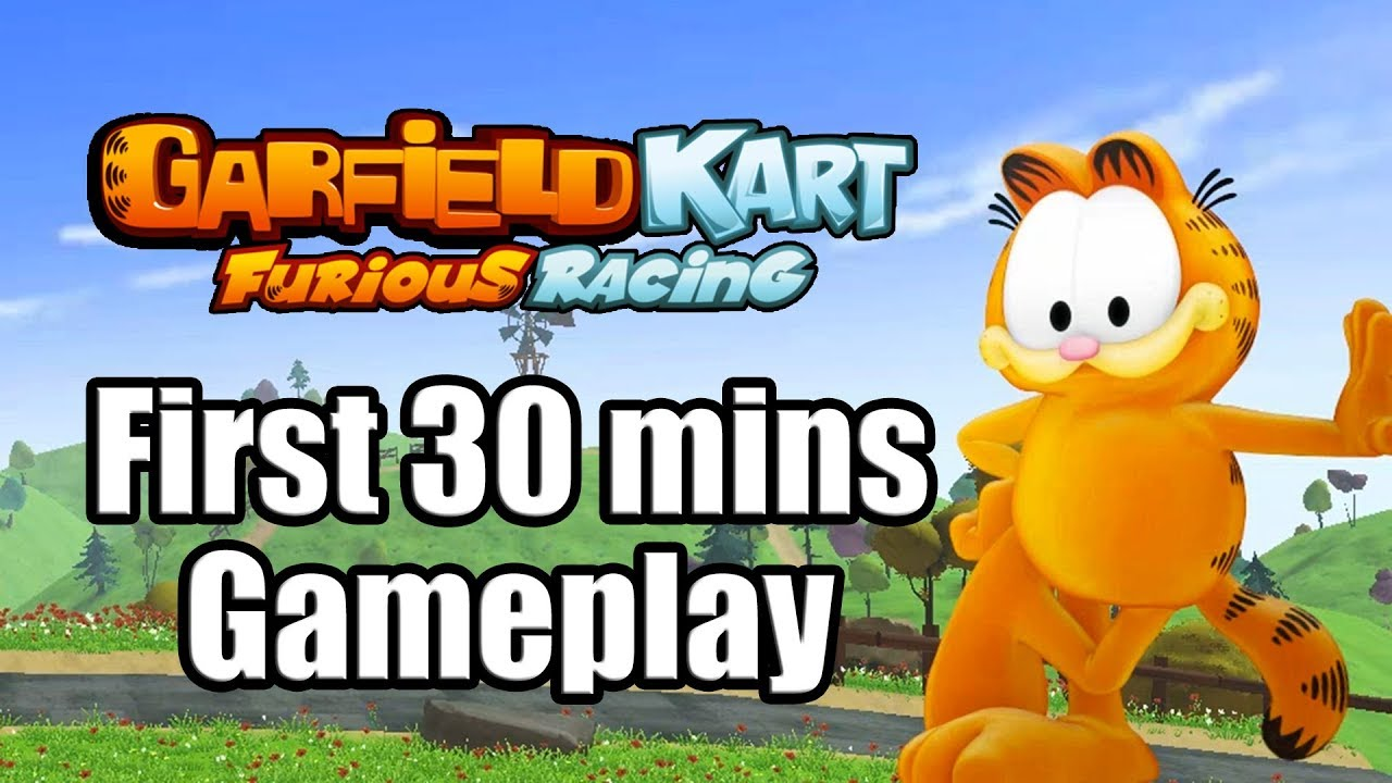 Garfield Kart Furious Racing First 30 Mins Nintendo Switch Gameplay No Commentary Youtube