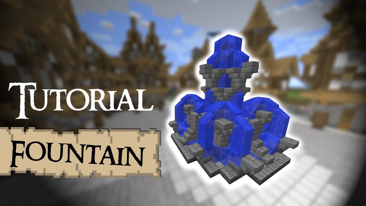 Minecraft Tutorial How To Build A Large Fountain YouTube