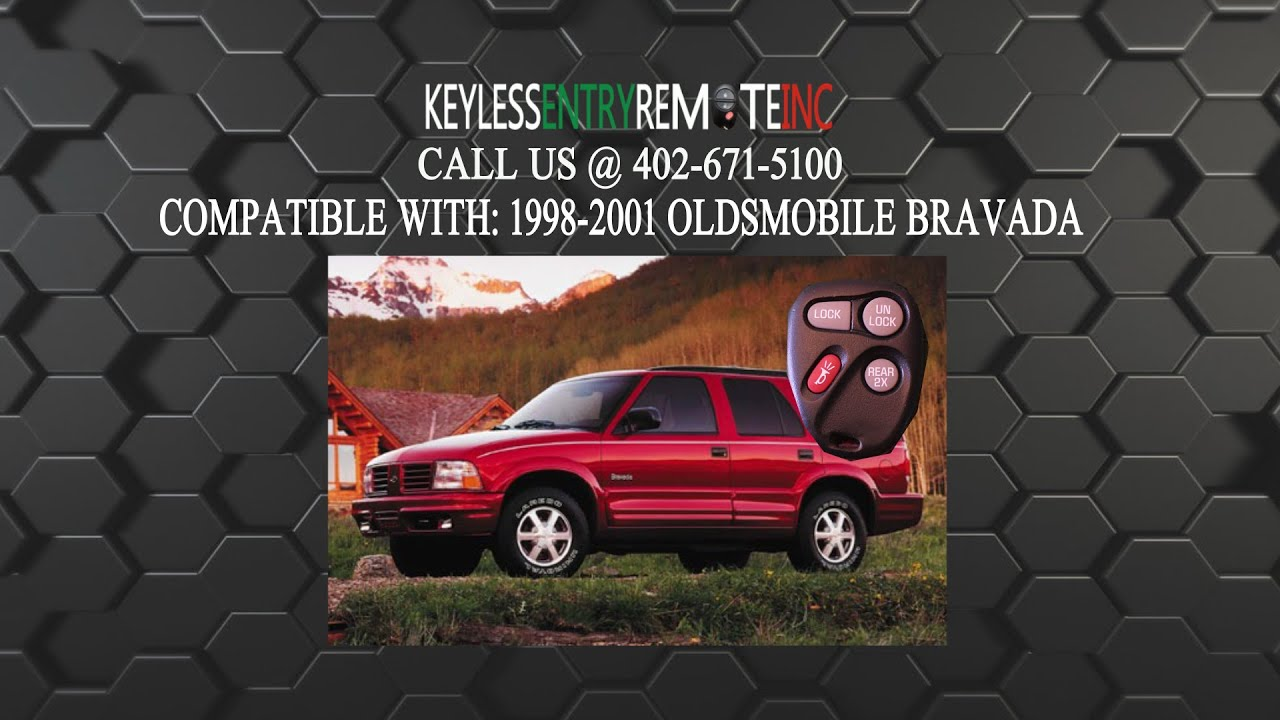Car Flip Key Keyless Entry Remote For 1998 1999 2000 2001 Chevrolet Blazer