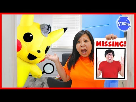 Pokemon Detective Pikachu on Ryan's Daddy is Missing Case!!!