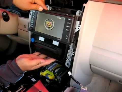 how to remove radio cd changer navigation from to  how to remove radio cd changer navigation from 2004 to 2009 cadillac xlr for repair