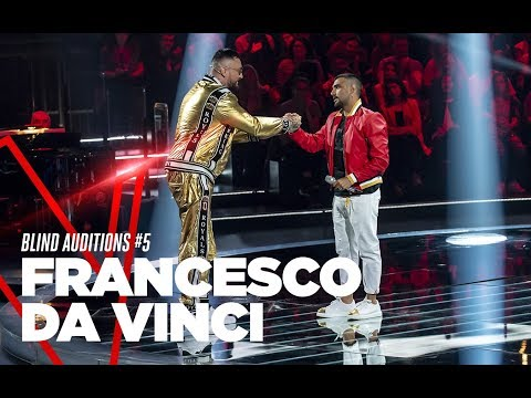 "Francesco Da Vinci  ""L&39;ammore fa paura"" - Blind Auditions 5 - TVOI 2019"