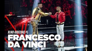 "Francesco Da Vinci  ""L'ammore fa paura"" - Blind Auditions #5 - TVOI 2019"