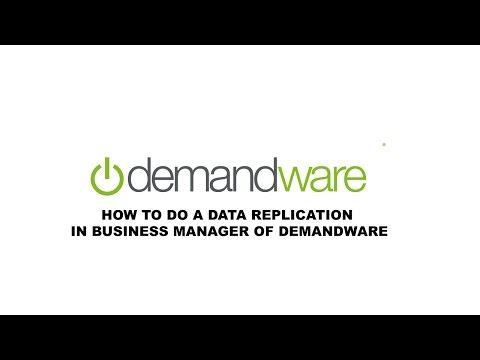 How to do a data replication in Business manager of