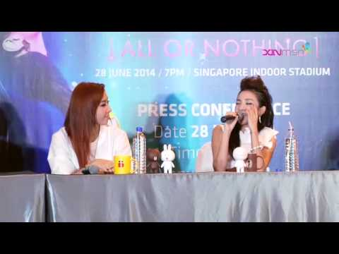 [140628] 2NE1's 'All Or Nothing' Singapore Press Conference in English