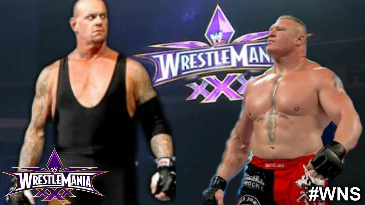 WWE WrestleMania 30: The Undertaker vs Brock Lesnar - WWE ...
