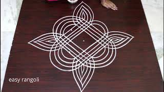 new padi kolam patterns   easy & simple geethala muggulu   latest rangoli designs with 5 dots
