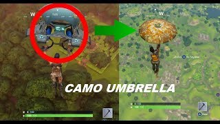 Fortnite - Battle Royale - How To Get Camo Umbrella / Camo Glider ( UPDATED )