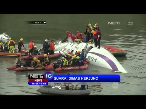 Live Phoner dari Taiwan Terkait Jatuhnya Pesawat Trans Asia - NET16