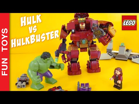 👊 Hulk fights Hulkbuster!!! Who is going to win? Iron Man,  Scarlet Witch, Ultron Lego Toy Juguetes: In this short video Hulk tries to win the Hulkbuster and look what happened !!! This is only part of the video we made building the Lego toy Hulkbuster 76031 Watch the full video by clicking here: https://www.youtube.com/watch?v=TxmEbJvIyuk&list=PL2edokDcUWHLRrau5wZfxiP5gZjU7EHhA  Also in this video: Iron Man, Scarlet Witch, Hulk, Hulkbuster and even Ultron !!!  Comment below your favorite part!  Do not forget to LIKE and SHARE the video. And please Subscribe: https://www.youtube.com/funtoysbrinquedosvideos/videos?sub_confirmation=1  Buy Lego Civil War and Avengers here: http://bit.ly/Lego_Avengers  Other cool vídeos: - ALL Iron Man's Suits, Powers & Suit Up Animations, from LEGO Marvel's Avengers game: https://www.youtube.com/watch?v=lTRzmSsi8w0&list=PL2edokDcUWHLRrau5wZfxiP5gZjU7EHhA  - Batman vs Superman https://www.youtube.com/watch?v=aYHSERE_hHU&list=PL2edokDcUWHLRrau5wZfxiP5gZjU7EHhA  - Transformers: https://www.youtube.com/watch?v=ZxyVimuxFYU&list=PL2edokDcUWHLRrau5wZfxiP5gZjU7EHhA  - Crazy Stormtrooper: https://www.youtube.com/watch?v=PjZycIG831U&list=PL2edokDcUWHLRrau5wZfxiP5gZjU7EHhA  - Star Wars Rebels: https://www.youtube.com/watch?v=GofUUE-K85w&list=PL2edokDcUWHLRrau5wZfxiP5gZjU7EHhA  - Gyrosphere attacked by a Dinosaur: https://www.youtube.com/watch?v=xKamP0QU5vs&index=30&list=PL2edokDcUWHLRrau5wZfxiP5gZjU7EHhA  - X-wing Poe Star Wars: https://www.youtube.com/watch?v=yJtxxN7JeOM&list=PL2edokDcUWHLRrau5wZfxiP5gZjU7EHhA  - Pteranodonte escaped!!! https://www.youtube.com/watch?v=x_T27Pd38cc&list=PL2edokDcUWHLRrau5wZfxiP5gZjU7EHhA  - Nerf do StormTrooper Rebels: https://www.youtube.com/watch?v=NtVuiosvsRw&list=PL2edokDcUWHLRrau5wZfxiP5gZjU7EHhA  - Flextangle + Heroes + Frozen: https://www.youtube.com/watch?v=5LjExz-wmJA&list=PL2edokDcUWHLRrau5wZfxiP5gZjU7EHhA  - DIY Lego car powered by elastic: https://www.youtube.com/watch?v=MoMtgGZ-xQI&list=PL2edokDcUWHLRrau5wZfxiP5gZjU7EHhA  - Angry Birds: Remote Control Fight: https://www.youtube.com/watch?v=gTois0h4hWw&list=PL2edokDcUWHLRrau5wZfxiP5gZjU7EHhA  - DIY Star Wars Bookmarkers: https://www.youtube.com/watch?v=OAsvuJBVMAw&list=PL2edokDcUWHLRrau5wZfxiP5gZjU7EHhA  - Puffy Paint DIY, Little Ponny, Kung Fu Panda, Angry Birds: https://www.youtube.com/watch?v=Z8MWyPKdnlM&list=PL2edokDcUWHLRrau5wZfxiP5gZjU7EHhA  - Captain America + Minecraft + Lego https://www.youtube.com/watch?v=_tnq1kdfpPQ&list=PL2edokDcUWHLRrau5wZfxiP5gZjU7EHhA  - Batman + Minecraft + Lego https://www.youtube.com/watch?v=n8WWUqIR-rw&list=PL2edokDcUWHLRrau5wZfxiP5gZjU7EHhA  - DIY Kylo Ren Mask & Hood from Star Wars: The Force Awakens: https://www.youtube.com/watch?v=YxxeWXcf3Lc&list=PL2edokDcUWHLRrau5wZfxiP5gZjU7EHhA  - Draw with 3d Effect - DIY https://www.youtube.com/watch?v=Lut8_6bJCmg&list=PL2edokDcUWHLRrau5wZfxiP5gZjU7EHhA  - Minions Xmas Window Painting - DIY: https://www.youtube.com/watch?v=CATQWufaz64&list=PL2edokDcUWHLRrau5wZfxiP5gZjU7EHhA  - DIY - Lego Marble Maze: https://www.youtube.com/watch?v=JsdElX_MarY&list=PL2edokDcUWHLRrau5wZfxiP5gZjU7EHhA  - Minios + Minecraft + Lego: https://www.youtube.com/watch?v=ujhl17HUNsQ&list=PL2edokDcUWHLRrau5wZfxiP5gZjU7EHhA  - Adventure Hour + Minecraft + Lego: https://www.youtube.com/watch?v=1IrpUCa2t-s&list=PL2edokDcUWHLRrau5wZfxiP5gZjU7EHhA  FOLLOW US: 😀 😅 😉 😍 😗 😜 😎 ✦Youtube: https://www.youtube.com/channel/UCVOq9DX3BL9bBU9FrG5MpMA?sub_confirmation=1 ✦Instagram: https://instagram.com/fun_toys_brinquedos/ ✦Facebook: https://www.facebook.com/Fun.Toys.Brinquedos.YT ✦Twitter: https://twitter.com/FunToysBrinque ✦Blog: http://festadeideias.com.br/Fun_Toys_Brinquedos/ ✦Google+: https://goo.gl/QVmgp0  Music: