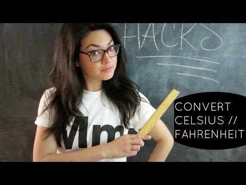 Easily Convert CELSIUS and FAHRENHEIT // TRAVEL HACK