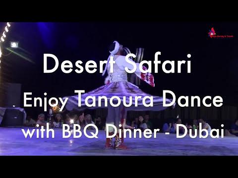 Desert Safari Enjoy Tanoura Dance & BBQ Dinner Sightseeing in Dubai Video