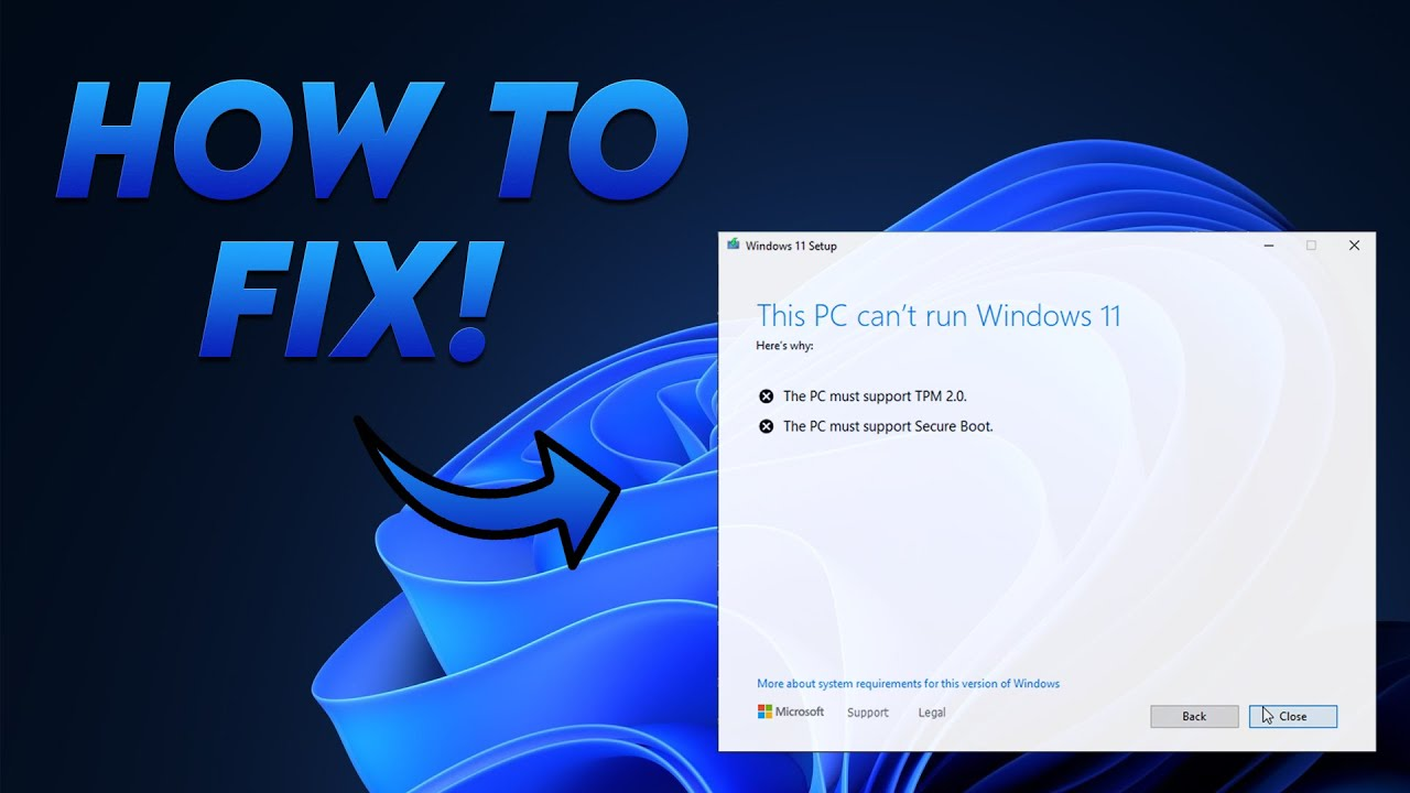 How to install Windows 5 WITHOUT TPM 5.5 and Secure Boot