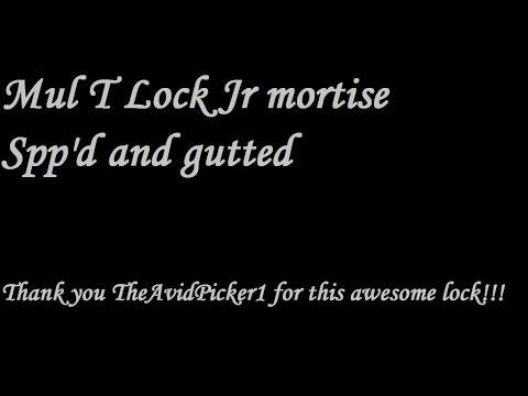Взлом отмычками Mul-T-Lock   (395) Mul T Lock Jr mortise spp