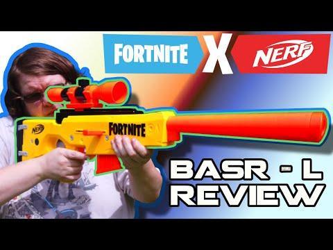 NERF's Newest Sniper! FORTNITE BASR-L Review!   Walcom S7