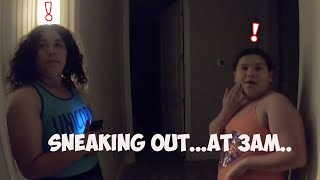 SNEAKiNG into our POOL to SWiM at 3am!  did we get caught?!