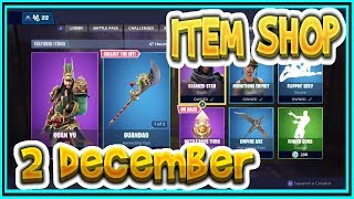 Fortnite ITEM SHOP December 2 All new SKINS and EMOTES-Playr NINE-English Fortnite EN