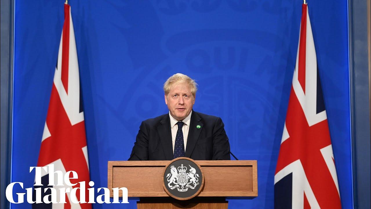 Boris Johnson holds news conference on winter Covid-19 plan