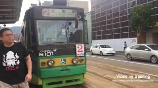 日本北海道函館市電2系統8100形電車 函館アリーナ前-函館駅前 Hakodate City Tram
