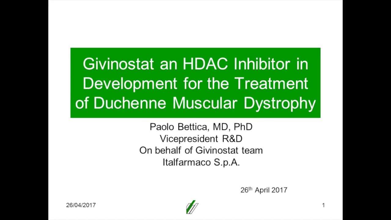 Duchenne Muscular Dystrophy Nih Webinar Givinostat In Duchenne April 2017